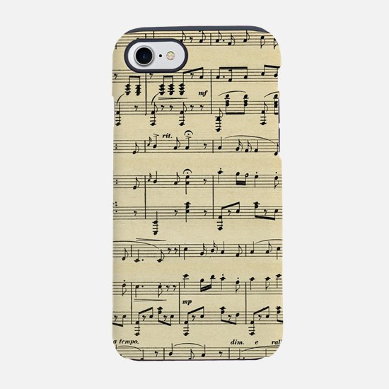 Antique Sheet Music iPhone 8/7 Tough Case
