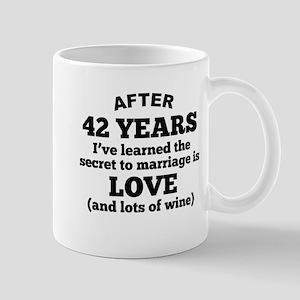 42 Years Of Love And Wine Mugs