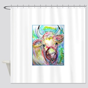 Cow! Colorful, art! Shower Curtain