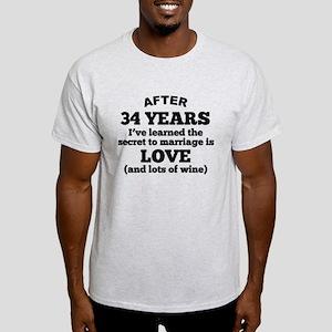 34 Years Of Love And Wine T-Shirt
