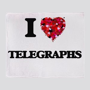 I love Telegraphs Throw Blanket
