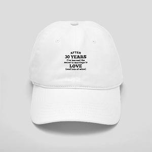 30 Years Of Love And Wine Baseball Cap