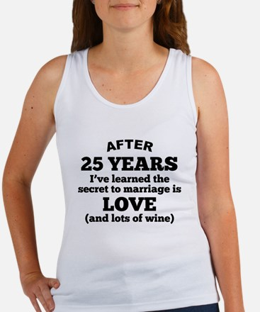 25 Years Of Love And Wine Tank Top