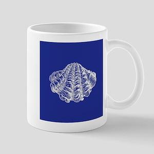 Navy Blue Seashell Mugs