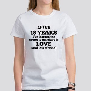 18 Years Of Love And Wine T-Shirt