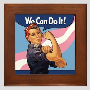 Rosie Transgender Pride Framed Tile