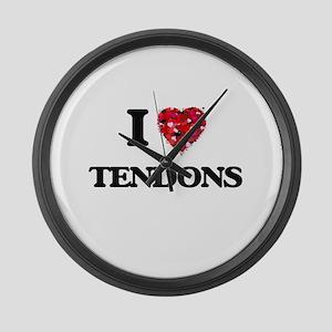 I love Tendons Large Wall Clock