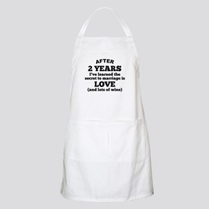 2 Years Of Love And Wine Apron