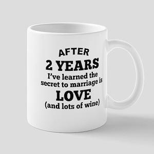 2 Years Of Love And Wine Mugs