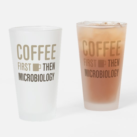 Coffee Then Microbiology Drinking Glass