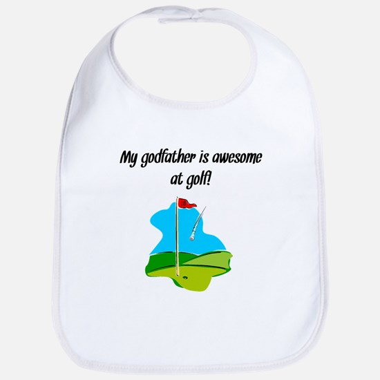 My Godfather Is Awesome At Golf Bib