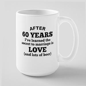 60 Years Of Love And Beer Mugs