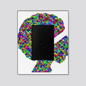 Rainbow Afro Woman Silhouette Picture Frame