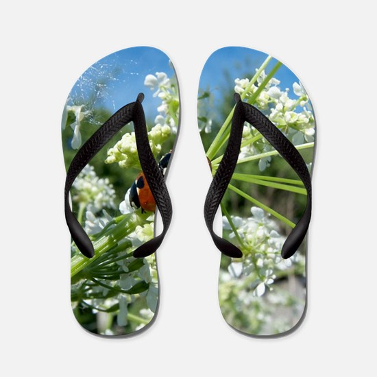 luck beetle Flip Flops