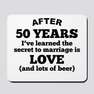 50 Years Of Love And Beer Mousepad