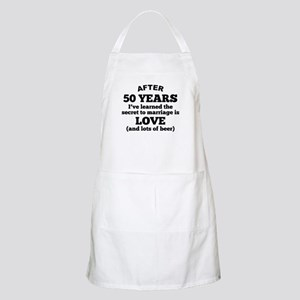 50 Years Of Love And Beer Apron