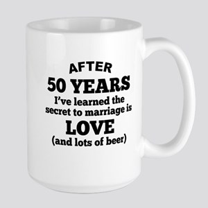 50 Years Of Love And Beer Mugs