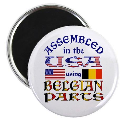 "USA/Belgian Parts 2.25"" Magnet (100 pack)"