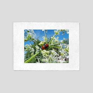 luck beetle 5'x7'Area Rug