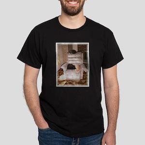 3 CATS SLEEPING ON THEIR CHAI Dark T-Shirt