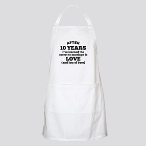 10 Years Of Love And Beer Apron