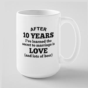 10 Years Of Love And Beer Mugs