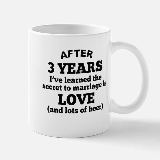 3 Years Of Love And Beer Mugs