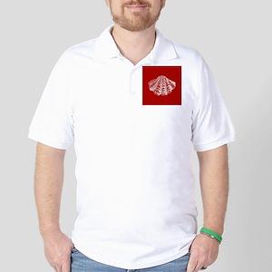 Dark Red Seashell Golf Shirt