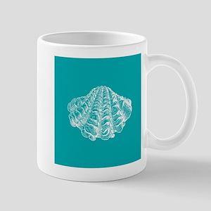 Turquoise Seashell Mugs