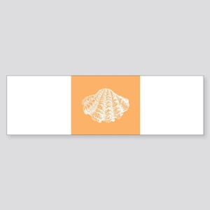 Apricot Seashell Bumper Sticker