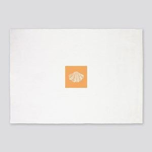 Apricot Seashell 5'x7'Area Rug