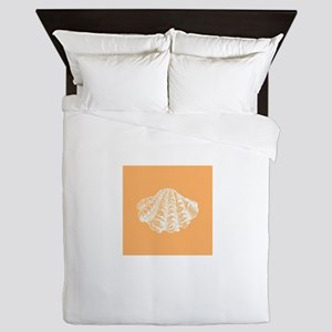 Apricot Seashell Queen Duvet