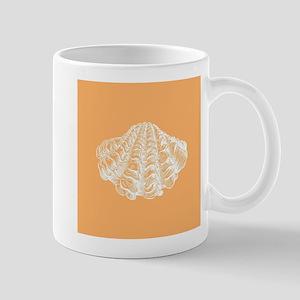 Apricot Seashell Mugs