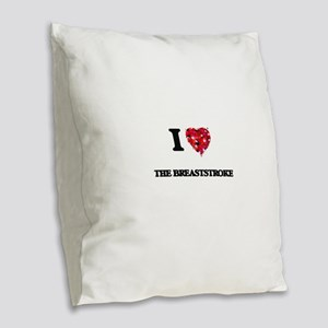 I Love The Breaststroke Burlap Throw Pillow