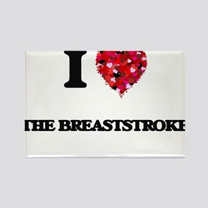 I Love The Breaststroke Magnets