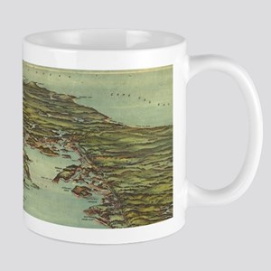 Vintage Pictorial Map of Buzzards Bay (1907) Mugs