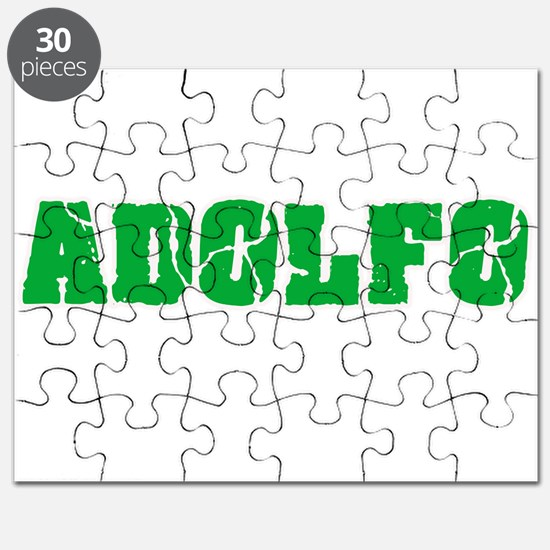 Adolfo Name Weathered Green Design Puzzle