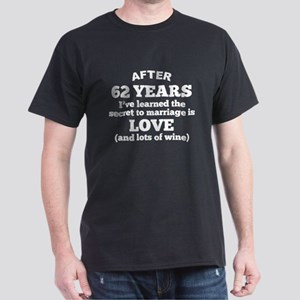 62 Years Of Love And Wine T-Shirt