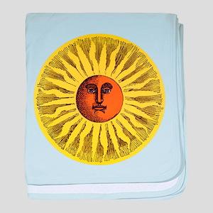 Antique Sun baby blanket