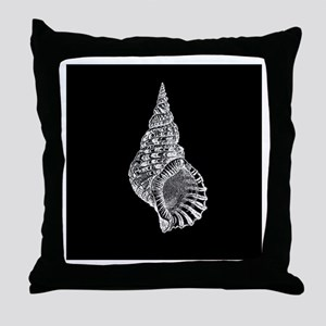Black Conch shell Throw Pillow