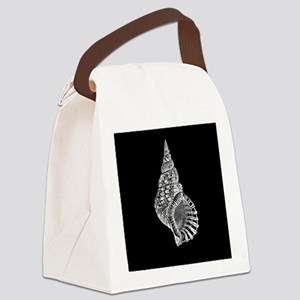 Black Conch shell Canvas Lunch Bag