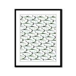 Tarpon Pattern Framed Panel Print