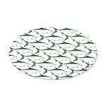 Tarpon Pattern Oval Car Magnet
