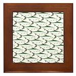 Tarpon Pattern Framed Tile