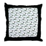Tarpon Pattern Throw Pillow