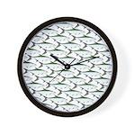 Tarpon Pattern Wall Clock