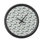 Tarpon Pattern Large Wall Clock