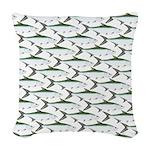 Tarpon Pattern Woven Throw Pillow