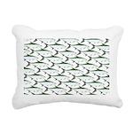 Tarpon Pattern Rectangular Canvas Pillow