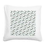 Tarpon Pattern Square Canvas Pillow